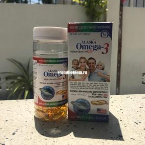 Omega 3(Омега 3), коэнзим Q10, витамин Е 100 капсул