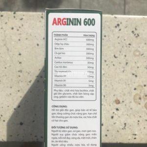 Arginin 600 (Аргинин 600) для восстановления печени 60 капсул