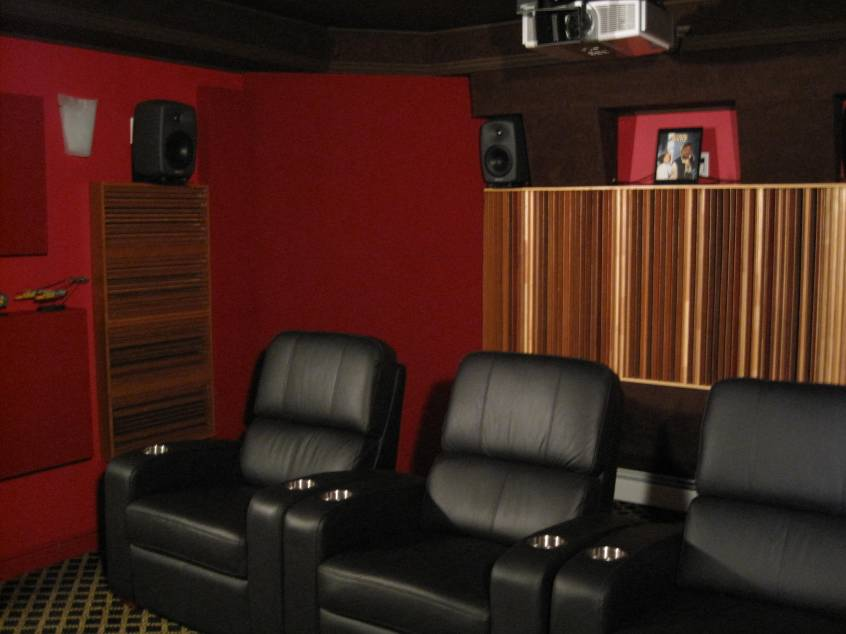My Home Theater: Initial Acoustic Tests, Design and Acoustic Treatments
