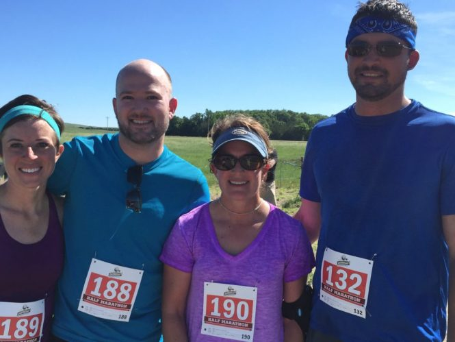 Kelly Jesse Chessney Jens, post Sandhills 1:2 Marathon 2015