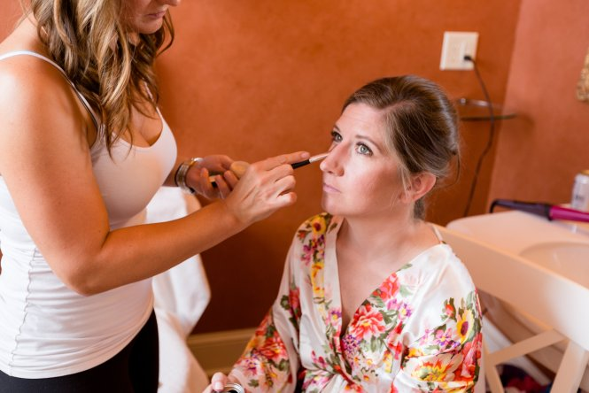 Christine wedding makeup Grand Highland Hotel Prescott AZ