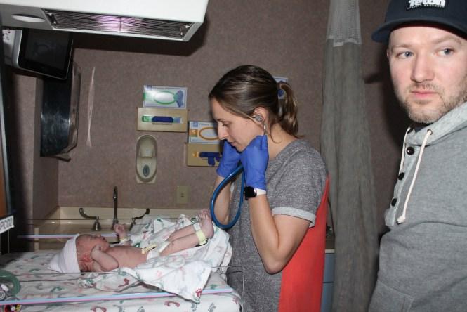 Baby Henry newborn vitals Cheyenne, Jesse
