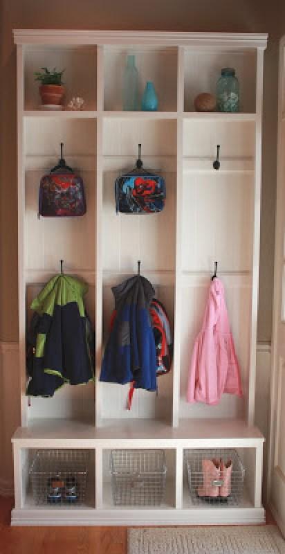 Locker Style Custom Built-In Entryway Storage