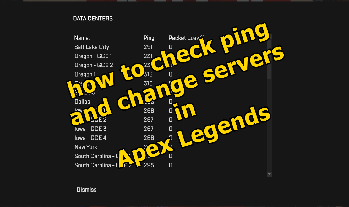 How To Check Ping And Change Server In Apex Legends - Frondtech