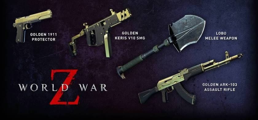 World War Z - Golden Weapon Skins - How To Get Them - Frondtech