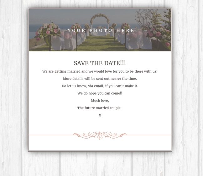 Email Save the Date Summer floral