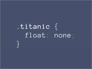 CSS pun titanic