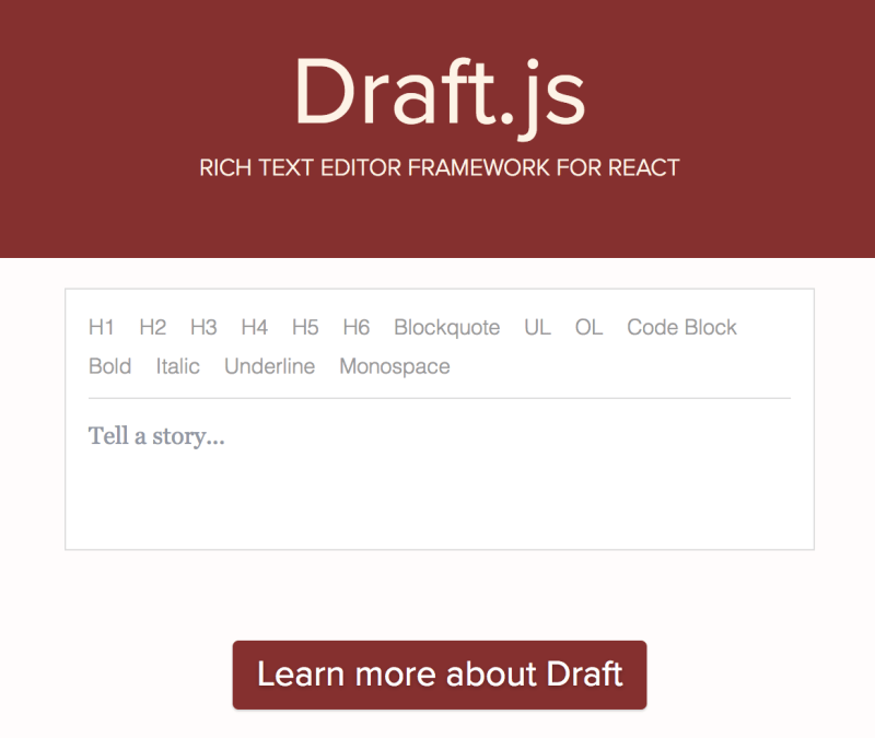 8 Playgrounds for Examples from Official Draft js Repository (v 0 10