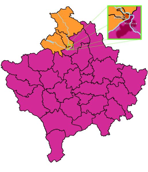 Kosovo Norte (click para ampliar)