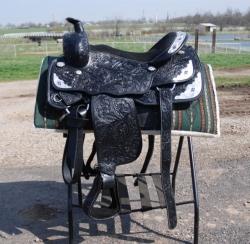 Draft Horse Black Show Saddle