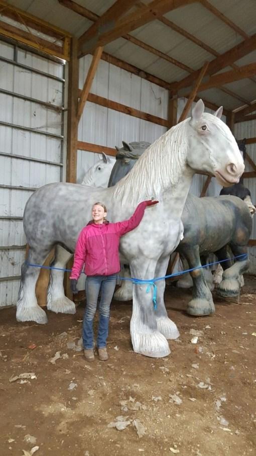 Draft Horse Statue