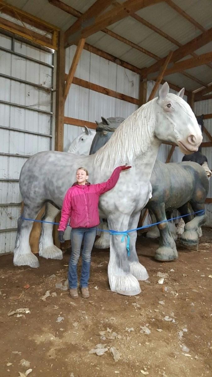 Draft Horse Fiberglass Statue Frontier Equestrian Draft