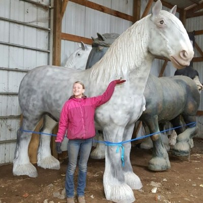 Draft Horse Statue