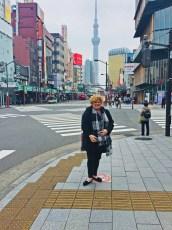 Beth traveling in Japan.