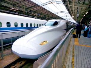 Japanese bullet train.