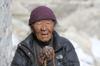 Our welcoming committee in Lo Manthang