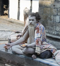 Ash-covered sadhu