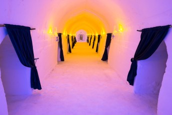 Hallway Leading to Ice Hotel Rooms