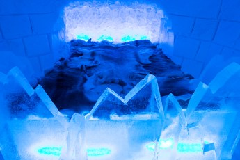 "The ""Frozen Suite"" at Sorrisniva Ice Hotel"