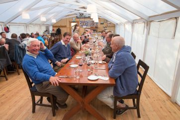 Dinner in the big tent