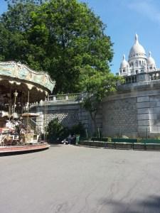 Scorci di Montmartre e della Basilica del Sacro Cuore
