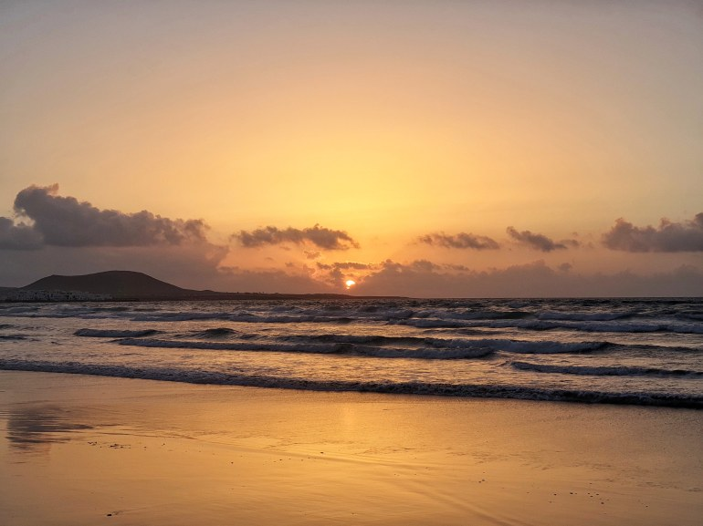 tramonto a lanzarote