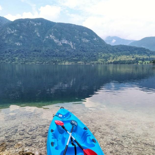 kayak lago bohinj
