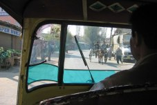 View from an auto rickshaw in Srinagar