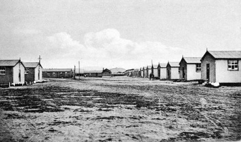 Baxter Block was the last remaining cluster of the accommodation blocks as pictured here in the 1920s
