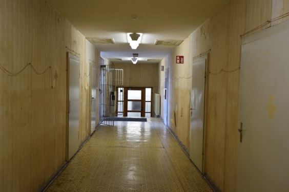 Corridor within the new prison building.