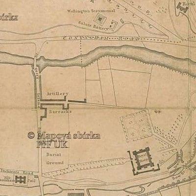 Dublin City Map. Circa 1800