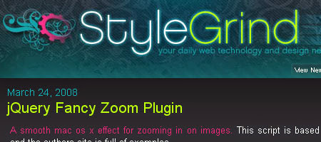 Style Grind shares a lot of useful information about web design and technologies