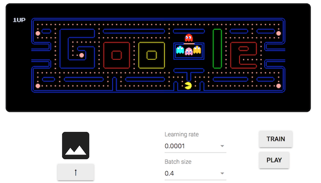 TensorFlow Webcam Controller - Play Pac-Man using images trained in your