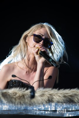 July, 22, 2016 - Oro-Medonte, Ontario, Canada: Canadian Indie rock band Metric perform on the mainstage at WayHome Music & Arts Festival (Bobby Singh/Polaris).