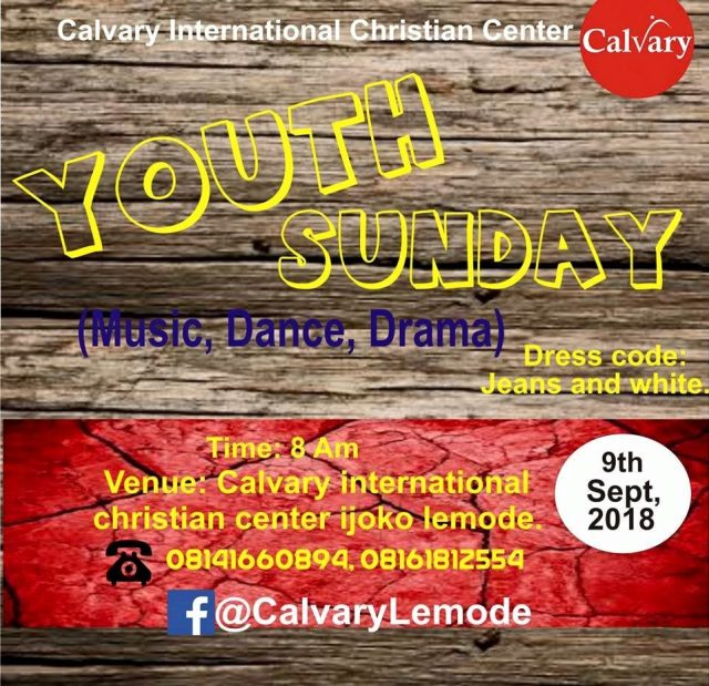 Calvary church celebrates youths, warns against worry