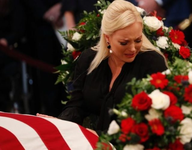 John McCain goes home