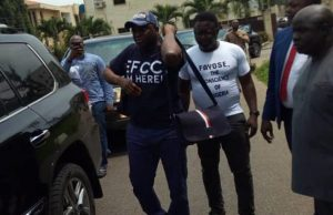 Drama as Fayose arrives EFCC office for probe