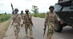 Military battle Boko Haram in Michika, Adamawa