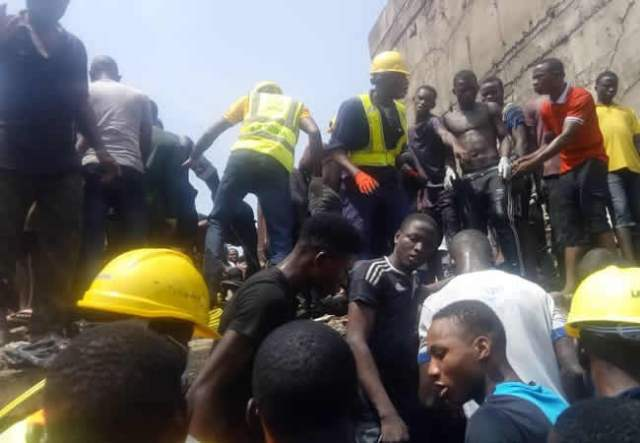 Rescue operation going on at Lagos collapsed school building