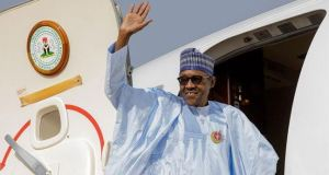 Buhari arrives Lagos on a working visit, commissions projects