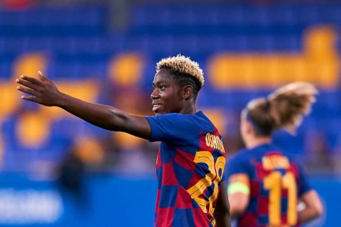 Oshoala scores in Barcelona Women's 4-1 rout of former club, Arsenal