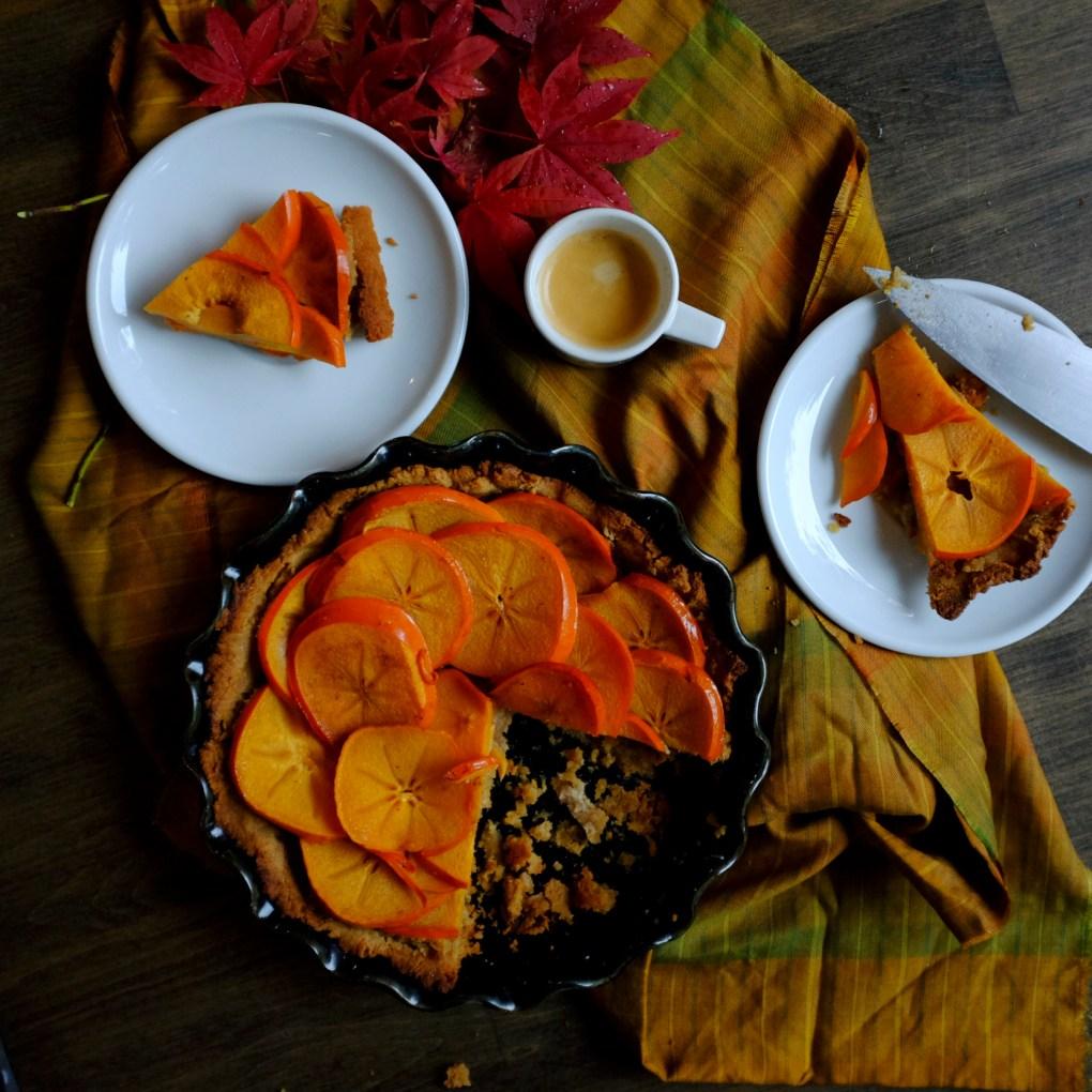 gluten-free & dairy free persimmon Pie