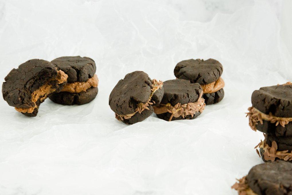 Hazelnut Brownie Sandwiches