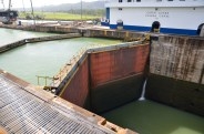 Set of locks at Gatun, in the Panama Canal