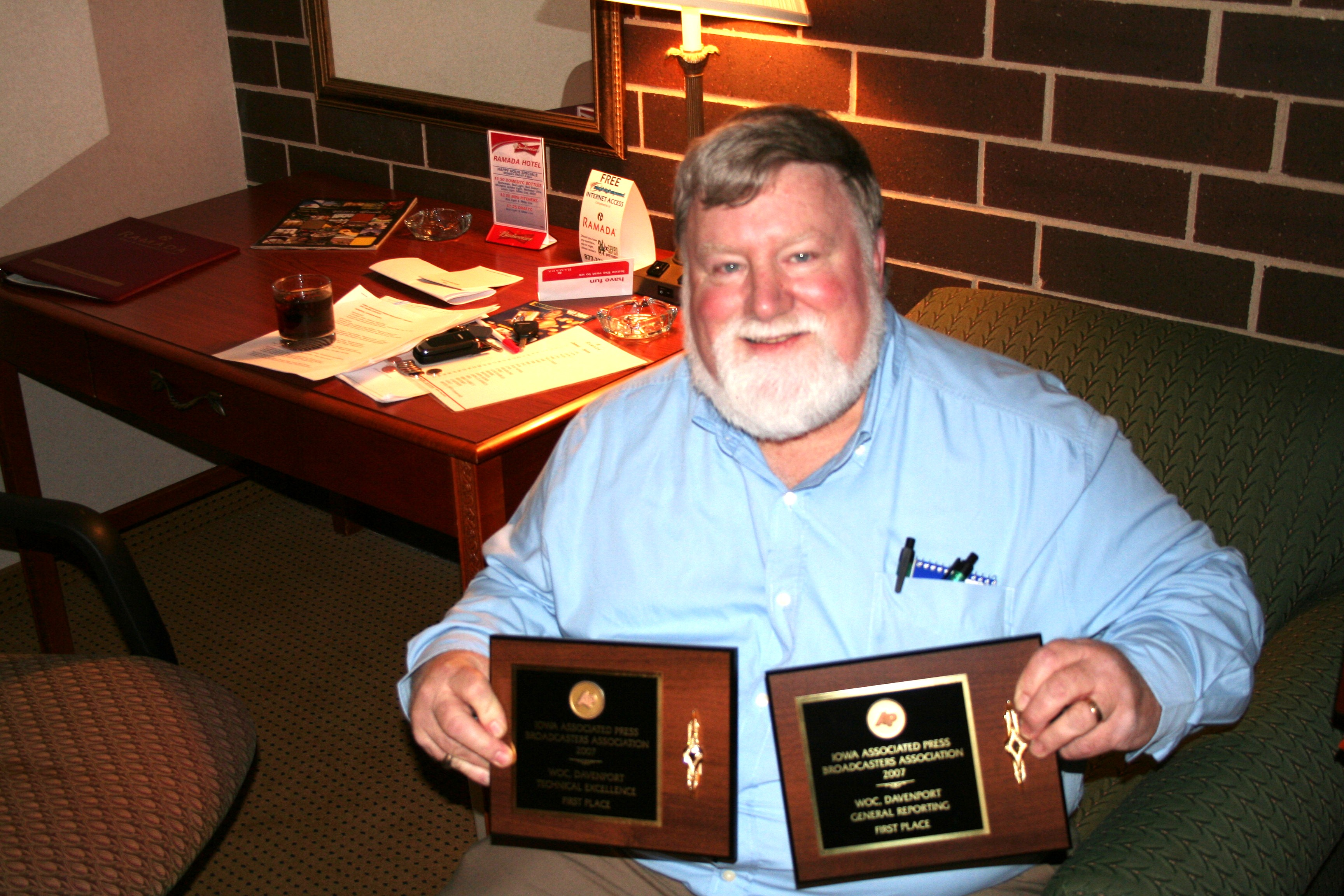 I was able to fool someone and snag a couple of AP Broadcast News awards in 2008.
