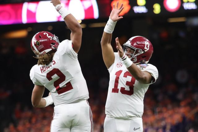 Both Tua and Jalen have the potential to lead Alabama to another National  Title. Image from USA Today. 9f0ab4b10