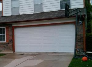 White Insulated Steel, traditional style garage door