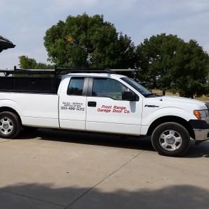 Front Range Garage Door truck company