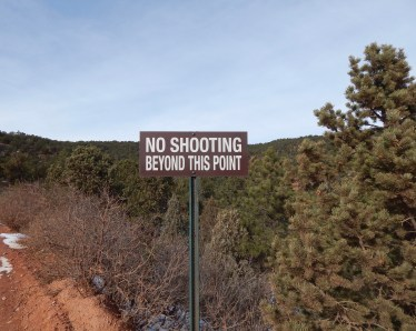 I made sure I did all of my shooting before the sign.