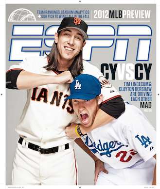 Lincecum and Kershaw mix it up for ESPN the Magazine's MLB Preview - ESPN  Front Row